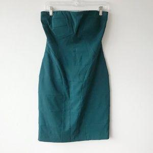 Vince Camuto Strapless Bodycon Geo Deco Dress